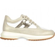 Hogan Sneakers Nuove Interactive H Paillettes Gold