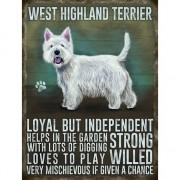 Merkloos Wand decoratie West Higland terrier