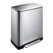 EKO E-Cube pedaalemmer afvalscheider - 28 + 18L - mat RVS