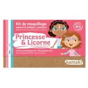 NAMAKI Kit maquillage bio 3 couleurs - Princesse et Licorne