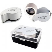AA Commerce LED Licht Vergrootglas Loep - Loeplamp Leesloep - Loupe Lamp Met Verlichting - Juweliersloep 40x25