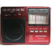 Radio Portabil X-Bass XB-421URT cu MP3 Player și Lanternă ,acumulator , AM/FM/SW 1-8