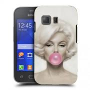 Husa Samsung Galaxy Young 2 G130 Silicon Gel Tpu Model Marilyn Monroe Bubble Gum