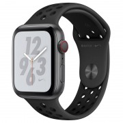 Apple Watch Nike+ Series 4 GPS + Cellular 44mm Alumínio Cinzento Sideral com Bracelete Desportiva Nike Antracite/Preta