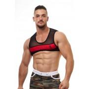 JJ Malibu Adonis Mesh Vest Harness Red JJTOP015