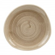 Churchill Super Vitrified Churchill Stonecast Patina Antique Organic Round Plates Taupe 186mm