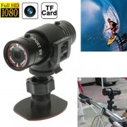 F9 Full HD 1080P Casque Action Camera / Caméra Sports / Caméra Bicyclette, Carte Support TF, Grand angle 120 degrés