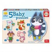 Educa Állatkás bébi puzzle, 5 az 1-ben 16816