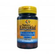 Nature Essential Calcio, magnesio y zinc (quelado) 475mg 50 comprimidos. nature essential - vitaminas y minerales