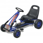 vidaXL Pedal Go Kart with Adjustable Seat Blue