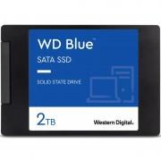 DISCO DURO SÓLIDO WESTERN DIGITAL BLUE 3D NAND 2TB - SATA 3 - 2.5' / 6.35CM - LECTURA 560MB/S - ESCRITURA 530MB/S