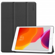 ENKAY Smart Leather Cover Shell with Tri-fold Stand Casing for iPad 10.2 (2019) - Black