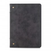 Retro Book Pattern Wallet Leather Tablet Casing for iPad 10.2 (2019) - Black