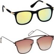 Spexra Wayfarer, Retro Square Sunglasses(Brown)