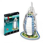 CubicFun Mini World's Great Architectures S3007h Dubai Burj Al Arab 3d Puzzle