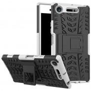 Capa Híbrida Antiderrapante para Sony Xperia XZ1 - Branco / Preto