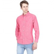 Yellow Tree Fashion Men Pink Shirt Full Sleeves Flower Solid Casual Formal Shirt For Mens Boys( T T )