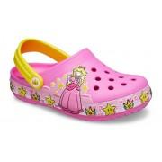 Crocs Fun Lab Princess Peach™ Lights Klompen Kinder Electric Pink 28