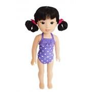 My Brittany's Purple Polka Dot Swimsuit fot American Girl Dolls Wellie Wishers