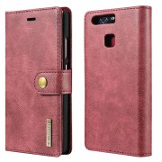 Huawei P9 Dg.Ming 2-in-1 Wallet Case - Red