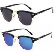 Mamta Creation Wayfarer Sunglasses(Black, Blue)