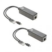 UCTRONICS Divisor de PoE para Raspberry Pi (5 V, 2 Unidades)