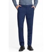 C&A Split suitbroek-Slim Fit, Blauw, Maat: 54
