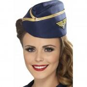 Smiffys Stewardess hoedje blauw