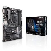 Asus AMD B450, Motherboard Prime B450-Plus, AMD Ryzen AM4, ATX con cabezal Aura Sync RGB, DDR4 a 3466MHz, M.2, HDMI 2.0b, SATA 6Gbps, USB 3.1 Gen 2