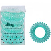 Rolling Hills Professional Hair Rings Transparent Dark Green