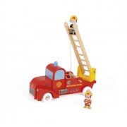 Janod Story Firemen Truck with 2 Firefighters