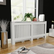vidaXL Параван за радиатор бял, MDF, 172 см