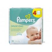 Pampers Naturally Clean vlažne maramice(4x64 kom)