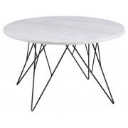 Op voorraad marmer salontafel wit 80 cm