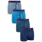 Next A-Fronts 4 Pack - Blue - Mens
