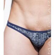 Mategear Kum Ja Thin Nylon Printed Signature Series Sexy Mini Bikini Underwear Denim 2061204