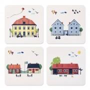 Emelie Ek Houses of Sweden Glasunderlägg 4-pack