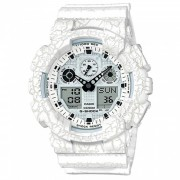 reloj digital adulto casio g-shock GA-100CG-7A-blanco