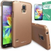 Skin Ringke Eco Slim Dot Samsung Galaxy S5 G900 Copper Gold + Folie