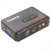 Edimax EK-UAK2 превключвател KVM, USB, 2 порта, с кабели, аудио