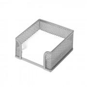 SUPORT CUB NOTITE 9.5*9.5 MESH SILVER FORPUS argintiu 1 compartiment Plasa metalica Suport cub notite