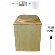 Toilette sèche - La Cube complète huilée - rehaussée