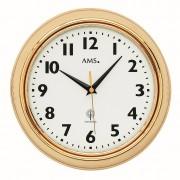AMS 5964 Wandklok zendergestuurd Messing 23 cm rond