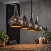 Richter young design Hanglamp PUNCH - Zwart/bruin Zwart