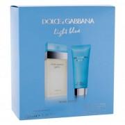 Dolce&Gabbana Light Blue set cadou Apa de toaleta 100 ml + Crema de corp 100 ml pentru femei