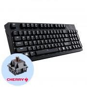 Cooler Master MasterKeys Pro M Brown White LED Геймърска механична клавиатура с Cherry MX Brown суичове