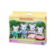Set Figurine Sylvanian Families Marshmellow Mouse Family