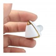 Audífonos Inalámbricos Deportivos, Moda Pendiente Diseño Auricular Estéreo Auricular Mini Inalambricos Audifonos Bluetooth Manos Libres V4.1 Manos Libres Fone De Ouvido Para Teléfono (Blanco)