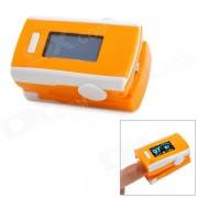 """""""1.2"""""""" pulso digital con clip de oxigeno para dedo pulgar / oximetro de sangre con alarma - naranja + blanco (2 x AAA)"""""""