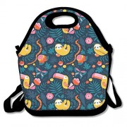 ZDTSQWY Lunch Boxes Cute Woodpecker And Sloth Lunchbox Food Container Lunch Tote Handbag Cool Fashion Designer Lunch Box For Work